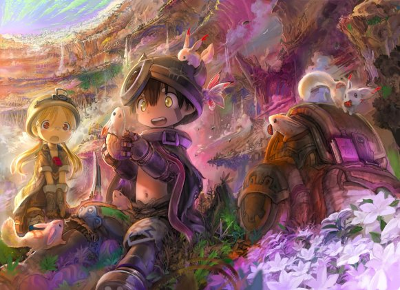 illustration entière totale couverture tome 2 Made in Abyss MiA